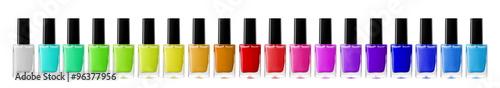 Fotografia bright nail polishes