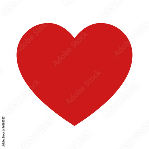 Canvastavla Heart, love, romance or valentine's day red vector icon for apps and websites