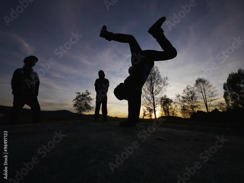 Canvas Print breakdancer