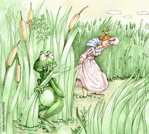 frog prince is hiding Princess intrusive