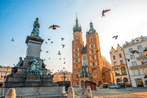 Fototapeta Widok Starego Miasta w Krakowie w czasie zmierzchu do pokoju