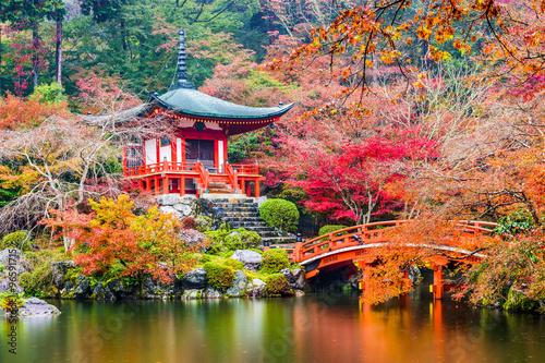 Fototapeta premium Kyoto, Japonia w Daigoji Temple jesienią.
