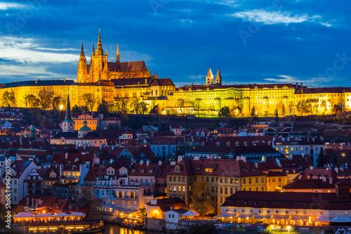 Fotografie, Obraz Prague Castle at sunset - Czech republic