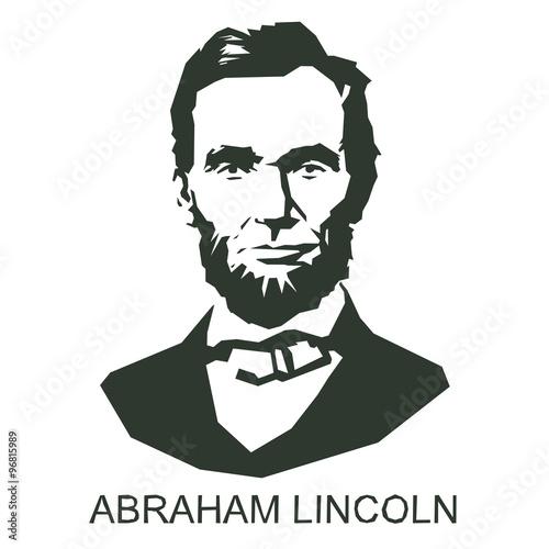 Wallpaper Mural silhouette Abraham Lincoln