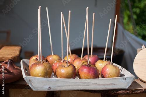 Fototapeta Apples in caramel
