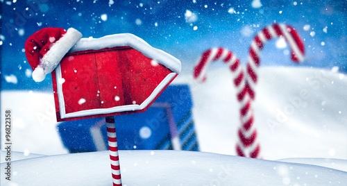 Obraz na płótnie Santa sign in north pole
