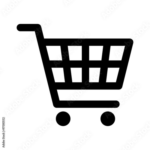 Cuadros en Lienzo Shopping cart line art icon for apps and websites