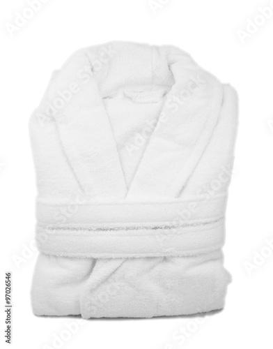Canvas Print White bathrobe isolate