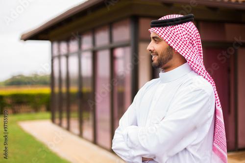 Fotografie, Tablou thoughtful arabian man