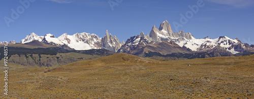 Patagonian Mountain Panorama #97248576