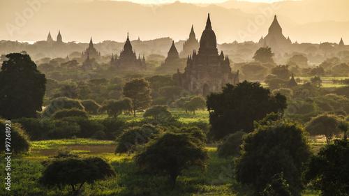 Canvas Bagan at sunset, Myanmar