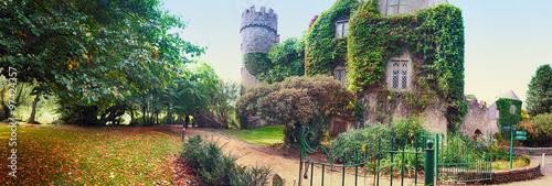 Canvas Print panorama of castle near Dublin
