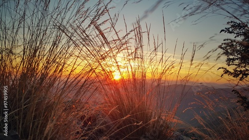 Beautiful sunset at the mountain #97459905