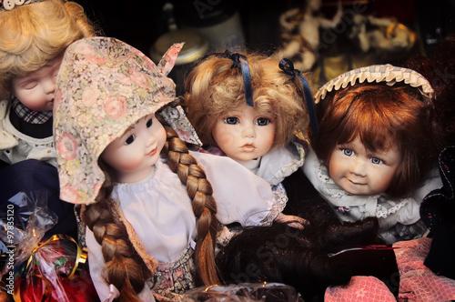 Fotografia Vintage ceramic dolls