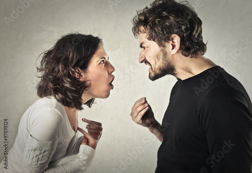Leinwand Poster Streiten Paar