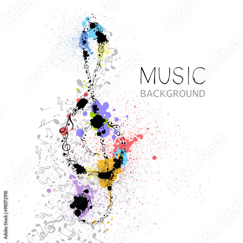 Vector Illustration of an Abstract Music Design #98072918