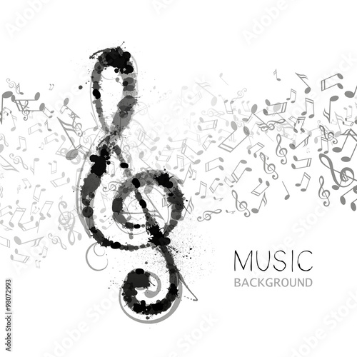 Vector Illustration of an Abstract Music Design #98072993