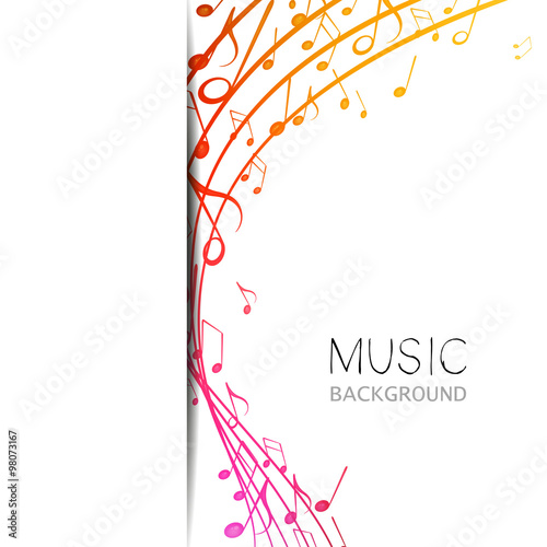Vector Illustration of an Abstract Music Design #98073167
