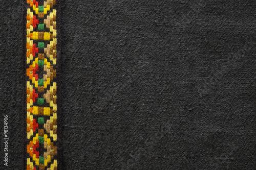 Obraz na plátně Barevné Native indiána Style Fabric Background