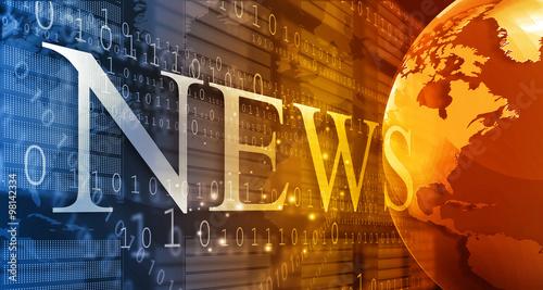 words News on digital background. #98142334