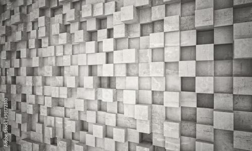 concrete geometric wall