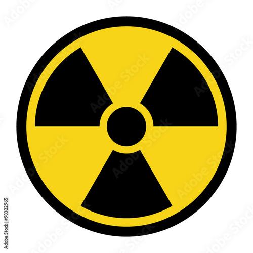 Carta da parati Radiation Hazard Sign