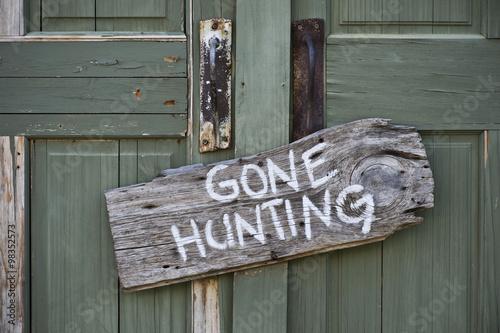 Obraz na płótnie Gone hunting.