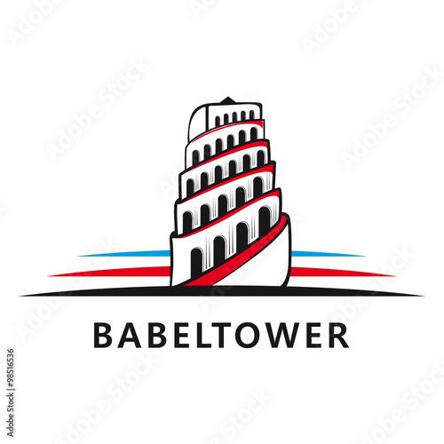 Vászonkép Tower of Babel logo