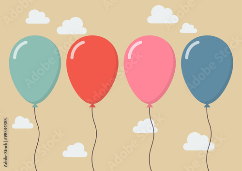 Colorful balloon Fototapete