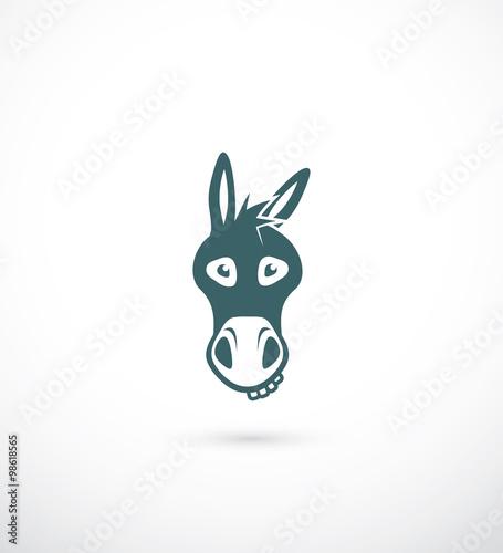 Carta da parati Donkey head