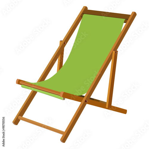 Wooden chaise lounge Fototapet