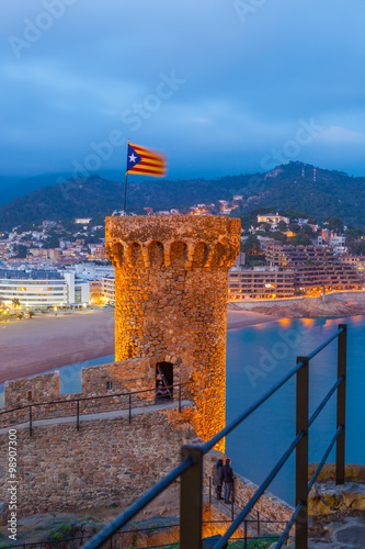 Tossa de Mar, Costa Brava, Spain Fotobehang