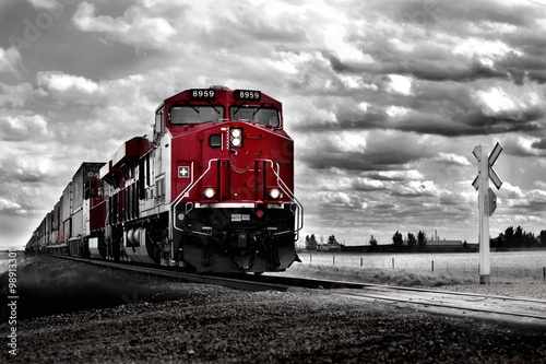 Canvas Print Freight Train Colour pop