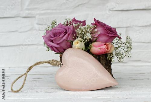 Herz mit Blumen #98948545