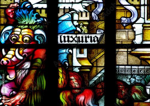 Fototapeta Luxuria:  the sin of Lust, in the Seven Deadly sins