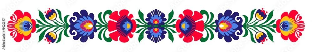 Polish folk flowers