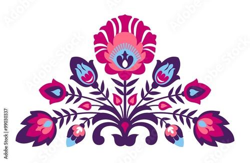 Fototapeta Folk papercut style flowers