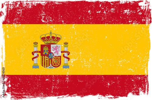 Wallpaper Mural Spain Vector Flag on White
