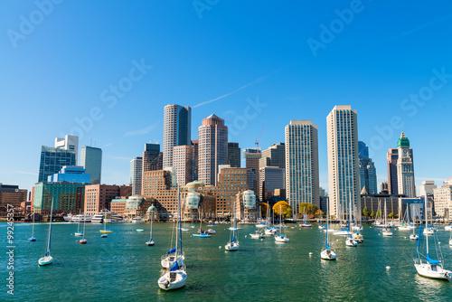 Fotomural Boston, Massachusetts. Hermoso horizonte de la ciudad