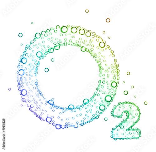 Canvas Print oxygen bubbles O2