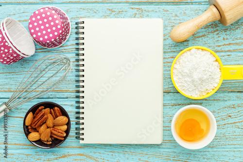 Fotografía Baking concept with notebook