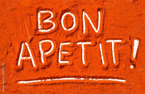 Obraz na plátně Bon apetit in red pepper