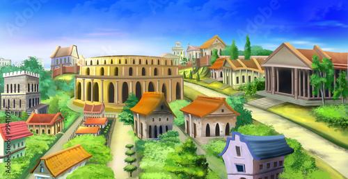 Murais de parede Ancient Rome panorama view. Image 02