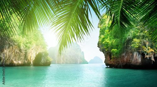 Fotografie, Obraz tropical sea and rocks