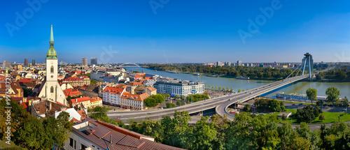 Canvas Print Skyline panorama of Bratislava, Slovakia
