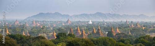 Photographie Panorama view of The plain of Bagan(Pagan), Mandalay, Myanmar