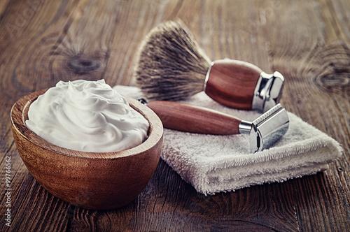 Carta da parati Shaving accessories