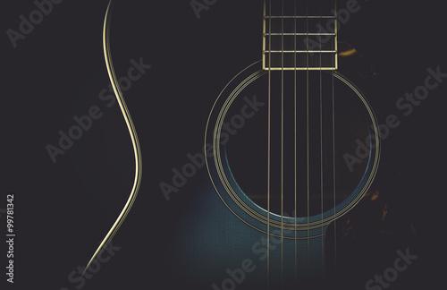 Fotografia Guitar abstract