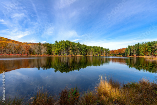 Fotografia Reflection,Lake Nawahunta New Jersey