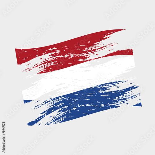 Wallpaper Mural color netherlands national flag grunge style eps10